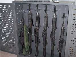 Universal weapons cabinets